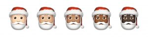 santa claus with various skin tones