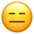 Expressionless Face emoji, Apple version of the Expressionless Face emoji
