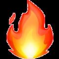 Fire emoji, Emoji,