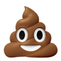 Pile Of Poo emoji, Apple version of the Pile Of Poo emoji