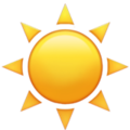 Sun emoji