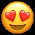 Heart Eyes emoji, Heart emoji, Heart, Heart Eyes, Love emoji