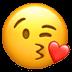 Face Blowing A Kiss, Kiss emoji, Pursed emoji, Blowing Kiss emoji