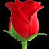 Rose, Rose emoji, Flower, Flower emoji