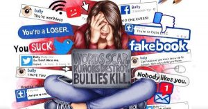 Girl on social media, cyberbullying,. social media etiquette, girl stressed on social media