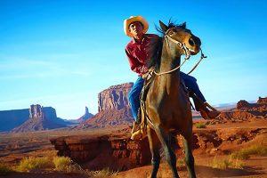 Cowboy, Wild, Wild, West, Western, Cowboy riding a horse