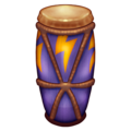 Long drum emoji. Long Drum, Music emoji