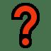 Question Mark emoji, Question Mark, Microsoft Question Mark