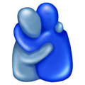 People Hugging, People Hugging emoji, Blue Figures Hugging