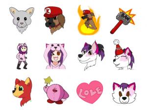 Discord emojis., Custom emojis, Discord, Set Of Discord emojis