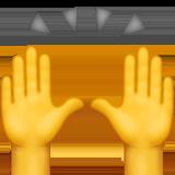 Raising Hands, Praising Hands, Praising Hands emoji, Raising Hands emoji