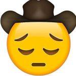 Sad Cowboy emoji, Sad Cowboy, Sad Cowboy smiley