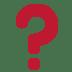 Twitter Question Mark emoji, Question Mark emoji, Question Mark symbol, Twitter Version of Question Mark emoji