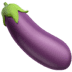 Eggplant emoji, Emoji of an eggplant, Apple version of the Eggplant emoji