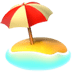 Beach With Umbrella emoji, travel emoji, Apple's version of the Beach With Umbrella emoji