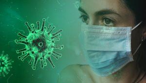 Coronavirus, woman with face mask, CO-VID19, Virus, Outbreak
