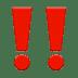 Double Exclamation Mark emoji, Double Exclamation Mark