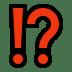 Exclamation Question Mark emoji, Exclamation Question Mark symbol