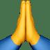 Folded Hands, Praying Hands, Hands in prayer, Folded Hands emoji, Praying Hands emoji