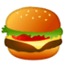 Hamburger emoji, Google Hamburger emoji, Hamburger emoji on Google