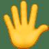 Hands With Fingers Splayed emoji, Apple version of the Hands With Fingers Splayed emoji, Hands With Fingers Splayed
