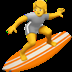 Person Surfing emoji, Person Surfing, Surfer on a surfboard emoji, Surfing emoji