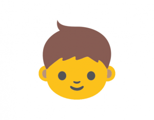 Person emoji, Yellow emoji, emoji on Mac OS X Yosemite