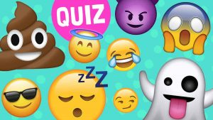 Emoji quiz, emoji poster, group of emojis, cluster of emojis