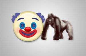 Harambe the gorilla, Gorilla emoji, Clown emoji, Scary clown, Gorilla And Clown emoji