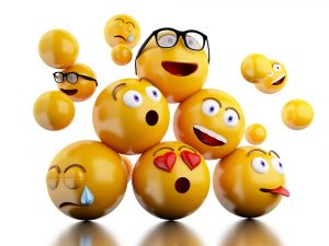 3d emojis, group of emojis, group of emoji icons, emoji balls