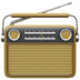 Radio, analog radio, Radio emoji, brown radio, old radio