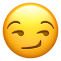Smirking Face Emoji, Smirking Face smiley, Apple version of the Smirking Face emoji