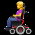 Woman In Motorized Wheelchair emoji, Apple version of Woman In Motorized Wheelchair emoji, Motorized Wheelchair emoji