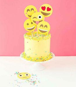 Emoji cake, emoji dessert, emoji pastries, cake with sprinkles
