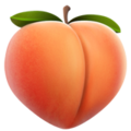 peach emoji, Peach emoji, Apple version of the Peach emoji