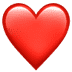 Red Heart emoji, Apple version of the Red Heart emoji