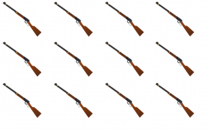 Rifle, rifle emoji, group of rifles