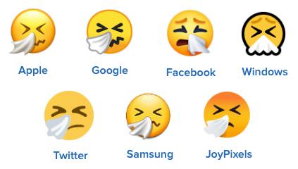 sneezing face emoji