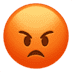 Pouting Face emoji, angry emoji, Apple's Pouting Face emoji, Apple's version of the Pouting Face emoji