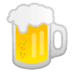 Beer emoji, Google version of the Beer emoji, Beer emoji on Google