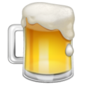Beer emoji, WhatsApp's Beer emoji, Beer emoji on WhatsApp