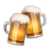 Clinking Beer Mugs emoji, Clinking Beer Mugs, Apple version of the Clinking Beer Mugs emoji