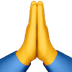 Folded Hands emoji, Apple version of the Folded Hands emoji, Praying Hands, Praying Hands emoji