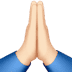 Light Skin Tone Folded Hands emoji, Light Skin Tone version of the Folded Hands emoji, Praying Hands Light Skin Tone, Praying Hands emoji, Light Skin Tone of the Praying Hands emoji