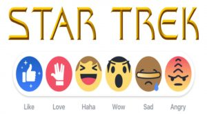 Star Trek Facebook Reactions, Facebook reactions, Star Trek, Star Trek Facebook theme, Star Trek Facebook special