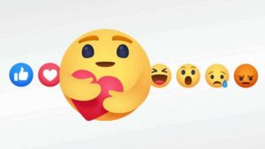 Facebook reactions, Care emoji, Care emoji button