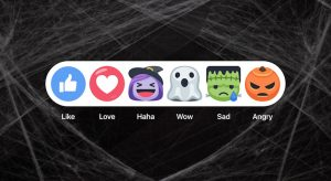 Halloween Facebook Reactions, Facebook Reactions With Halloween Theme, Halloween Feature Of Facebook Reactions
