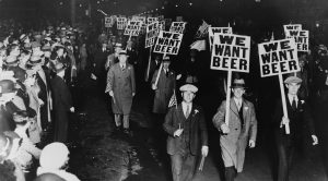 Prohibition, Prohibition protest. Prohibition rally