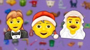 Mx Claus emoji, Man With A Veil emoji, Woman In Tuxedo emoji