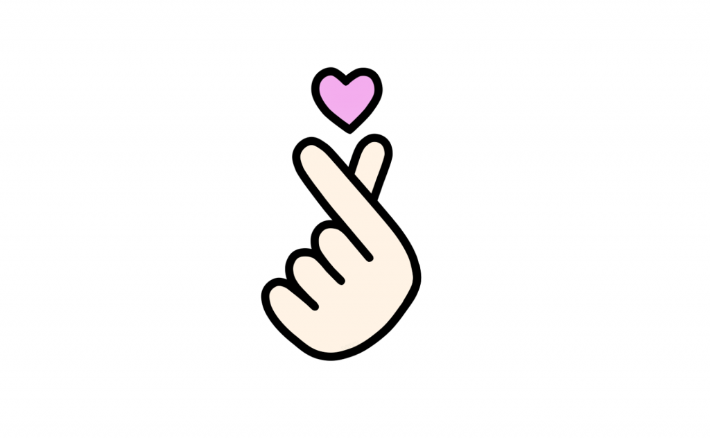Finger Hearts emoji, Korean Finger Hearts, Finger Hearts drawing